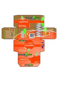 Tea box design created in Adobe Illustrator.