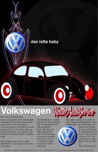 Created in Illustrator and InDesign,based on and use of text from VW ad.