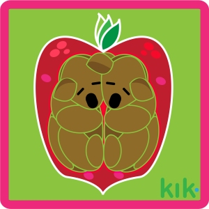 KIK sticker created in Illustrator