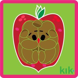 KIK sticker created in Illustrator