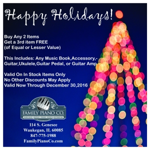 Holiday Sale ad created with Photoshop and Indesign for Social Media postings.